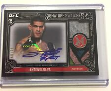 ANTONIO BIGFOOT SILVA 2016 TOPPS UFC MUSEUM COLLECTION DUAL RELIC PATCH AUTO /99