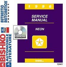 1996 Dodge Chrysler Plymouth Neon Factory Shop Service Repair Manual CD