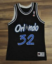 SHAQUILLE O'NEAL SHAQ ORLANDO MAGIC CHAMPION JERSEY BLACK 40/MEDIUM