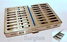 Chirurgici dentali di sterilizzazione CASSETTA Rack per 10 strumenti * CE * NUOVO
