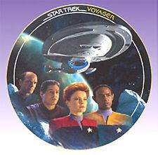 The VOYAGE BEGINS  Star Trek Voyager Episode Plate (STPL-71)