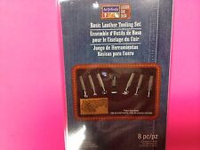 8 PIECE  ARTMINDS BASIC LEATHER TOOL AND STAMPING SET WITH KNIFE W/ BOOKLET