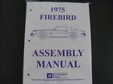 1975 75 PONTIAC FIREBIRD  ASSEMBLY MANUAL