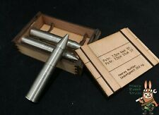 1/6 scale german tank shells made of steel w/ crate for 1:6 vehicle and diorama