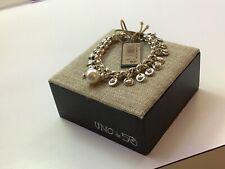 "NWT Uno de 50 Silver-plated Charms/Pearl Bracelet ""Texcoco"""