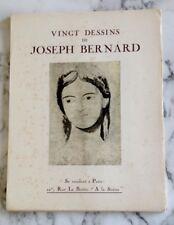 Vingt dessins sur papier Z.R. de Joseph Bernard  Sculpteur  (1866 - 1931 )