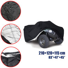 XL Black ATV Quad Cover Fit For Yamaha Banshee Bear Tracker Bruin Kodiak YFZ YFM