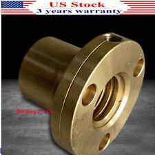 1x Bridgeport Milling Machine Parts Z Axis Screw Copper Brass Nut Bushing