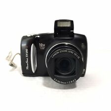 Canon PowerShot SX120IS Point & Shoot Digital Camera Black Tested Working PC1431