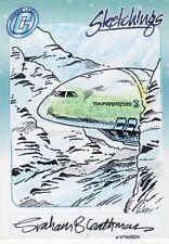 Thunderbirds TV Series Rare Graham Bleathman Colour Sketch Card a
