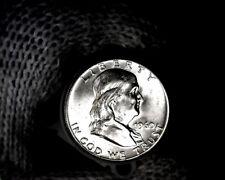Roll (20) 1960-p Blast White Uncirculated Franklin Half Dollars