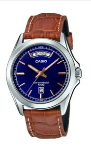 Casio Watch  MTP-1370L-2A  Mans Analog Clasic Watch  50m    mtp1370
