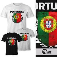 Herren T-Shirt - Fußball EM 2016 Portugal Flagge Vintage - Comfort Fit