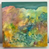 "New Mexico Landscape Painting High Mountain Desert 12"" Abstract Original Acrylic"