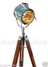 Royal nautique spotlight projecteur en teck en bois trépied plancher éclairage lampe #