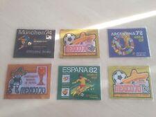 6 RARE BUSTINA PACKETS PANINI WORLD CUP 1970 (3versions) 1974 1978 1982