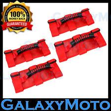 87-16 Jeep Wrangler JK TJ YJ Extreme 4pcs RED Black Rear Side Bar Grab Handle