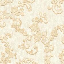 Grandeco Villa Borghese Floral Leaf Pattern Wallpaper Metallic Glitter 130602