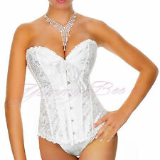 Wedding Corset Ivory White Plus Size 6-24 Bridal Basque Sexy Lingerie Underwear