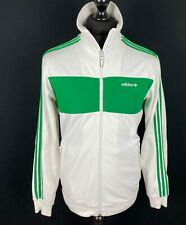Adidas Originals Firebird Trefoil Track Jacket Mens Size M White/Green Track Top