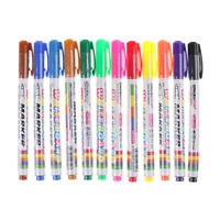 12 Colors Whiteboard Marker Non Toxic Dry Erase Mark Sign Fine Nib Supply M&O