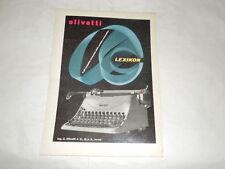 """PUBBLICITA' VINTAGE DEGLI ANNI '50-MACCHINE DA SCRIVERE""""OLIVETTI LEXIKON """" (4)"""