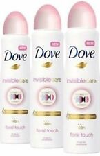 3x Dove Invisible Care Antiperspirant Deodorant Spray, Floral Touch, 150 ML