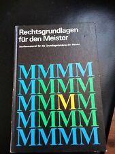 DDR Sachbuch von 1984 : Rechtsgrundlagen für den Meister. Studienmaterial. b3