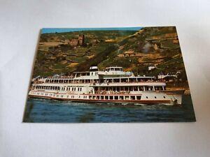 """Großmotorschiff """" Loreley ☆ Postkarte ☆ Verlag Rheinschifffahrt"""