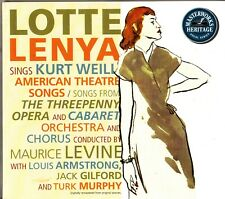 LOTTE LENYA Plays KURT WEILL- American Theatre Songs CD John Kander/Jack Gilford