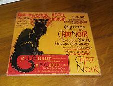 Dessous de plat en verre «chat noir hotel drouot»