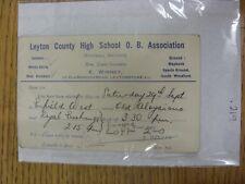 County High School 25/09/1934 Leyton viejo chicos Asociación: tarjeta de selección V derivada