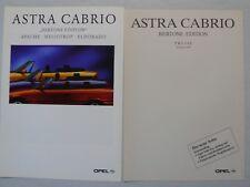 Prospekt Opel Astra Cabrio Bertone Ed. Apache Heliotrop Eldorado 2.1995, +Preise
