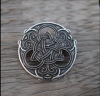 Norse Viking Celtic Knot Talisman Brooch