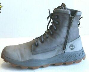 Timberland Brooklyn Side Zip Sneaker Grey Boots Men's A2152. US Size 11.5 M.