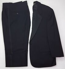 Brooks Brothers Tuxedo 43S Black Mens One Button Wedding Formal Brooksease Wool