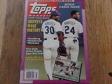 TOPPS MAGAZINE FALL 1990 COLLECTOR'S EDITION #4 GRIFFEY JR & SR PLUS BONUS CARDS