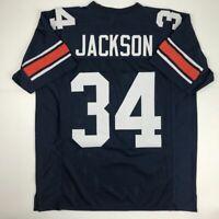 New BO JACKSON Auburn Blue College Custom Stitched Football Jersey Size Men's XL