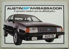 AUSTIN AMBASSADOR Car Sales Brochure 1982 #3533