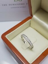 Silver created diamond eternity ring  part of our riviera collection