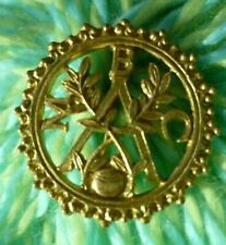 More details for mbac barmontino martial arts club brooch badge brass(7 july 1940 h henwood mark