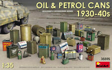 1:35 Oil & Petrol Cans 1930-40s 36 Pieces MiniArt Model Kit Diorama 35595