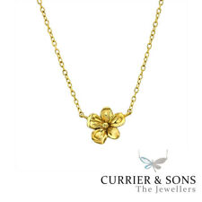 14ct Gold-Plated 925 Sterling Silver Flower Pendant Necklace (51cm / 20 inch)
