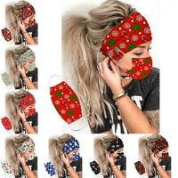 Weihnachten Knopf Stirnbänder mit Gesichtsmaske Haarband mit Maskenhalter DE