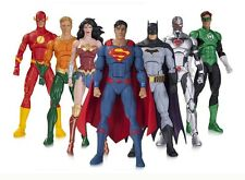 DC Rebirth Justice League 7 Figure Set Pack - Batman Superman Wonder Woman Flash