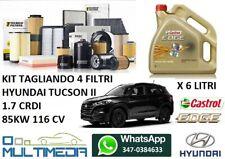 KIT TAGLIANDO FILTRI OLIO CASTROL 5W30 HYUNDAI TUCSON II 1.7 CRDI 85KW 116 CV