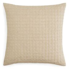 "Oake Chevron Linen Box Square 20"" Decorative Pillow Beige $130 G2092"