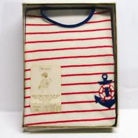 Vintage 60s Sears Girls 2-Piece Play Set Outfit 6 Mo. Top Shorts NOS Nautical