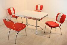 Bistrogruppe Paul King 4 Vegas American Diner 50er Jahre Retro 5 teilig Rot Weiß
