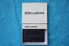 BILLABONG COVERT LEATHER WALLET - BLACK Embossed Leather New. rrp $49.99